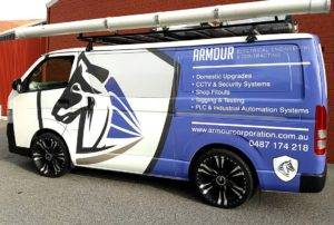 Digitally printed custom 3 quarter vehicle wrap