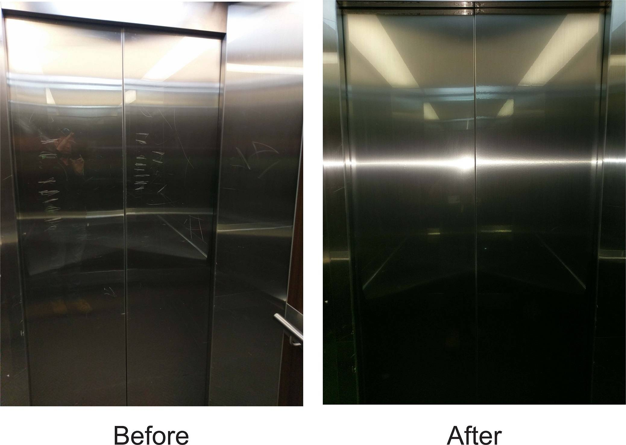 Before and After Stainless Steel Film
