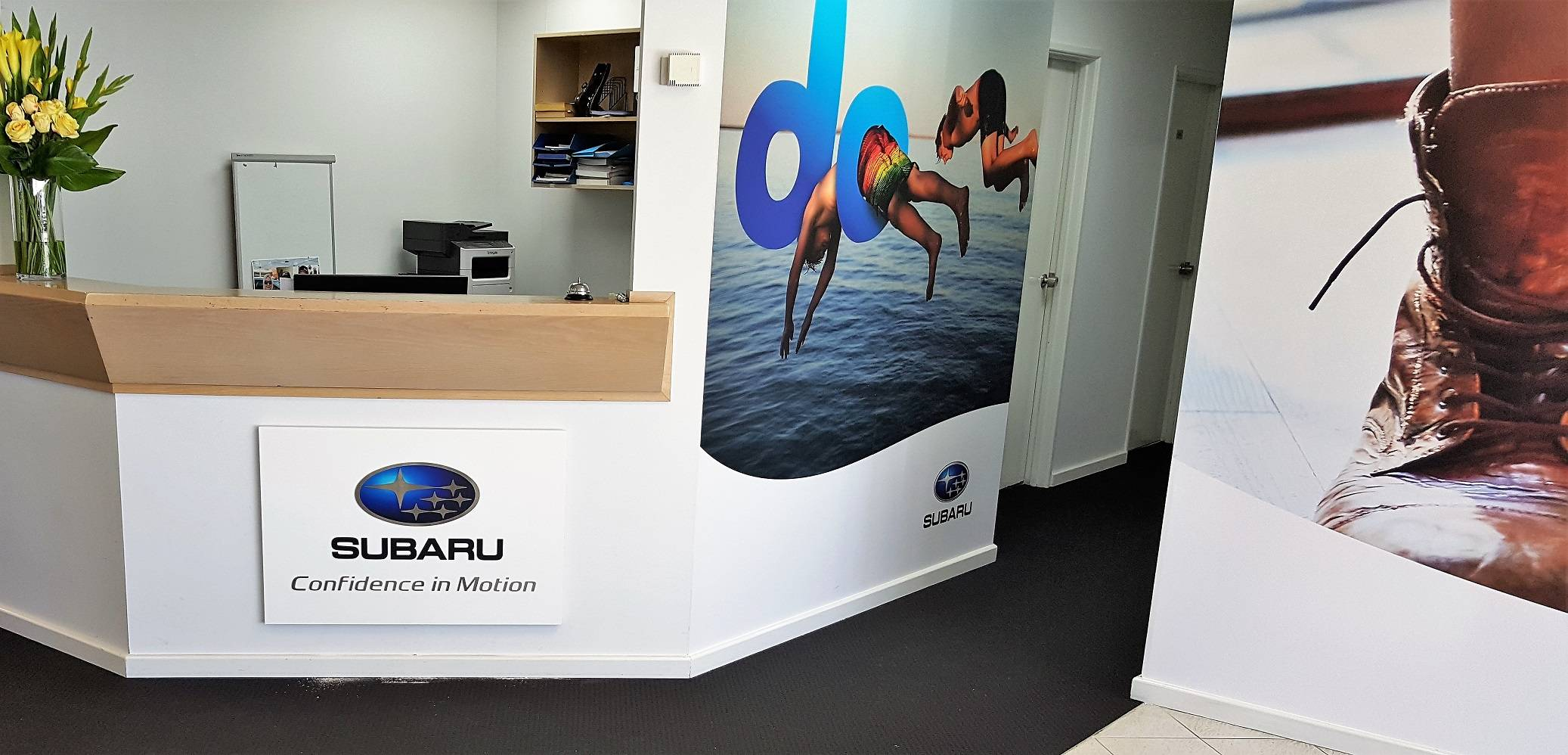 Digitally printed wall vinyl Subaru