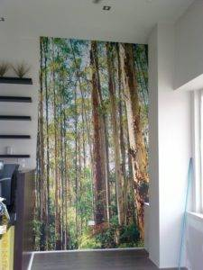 Custom wall print of trees