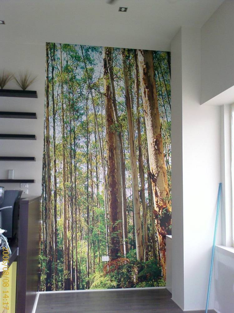 Custom Wallpaper Print of Trees