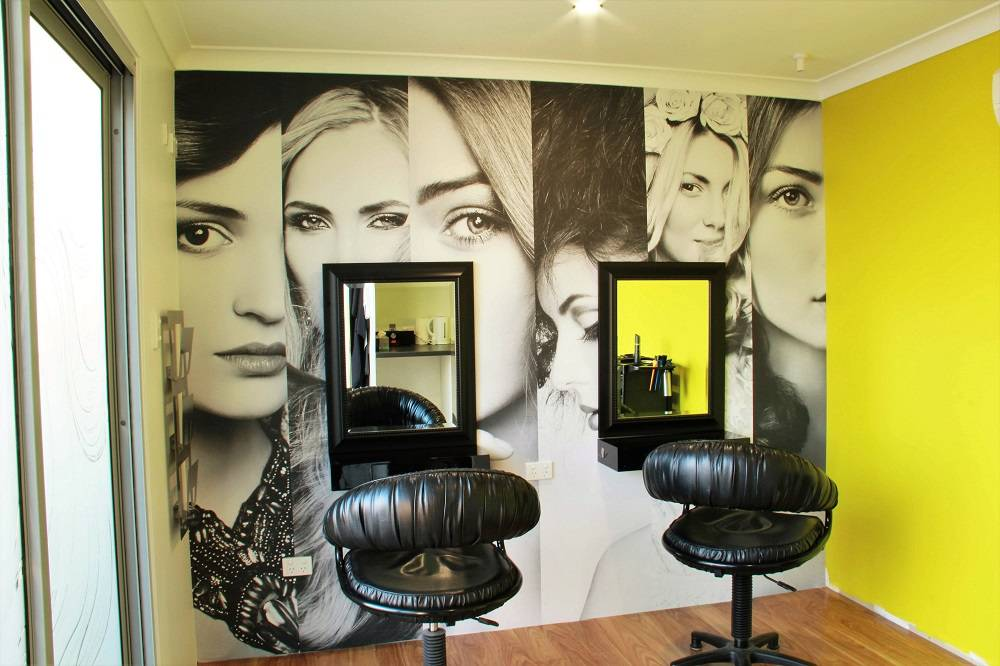 Custom wallpaper for Hair Salon in Padbury