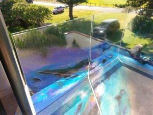 digital print on glass balcony
