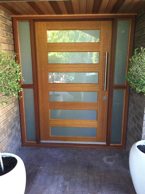 Frosted film for Entry Door Privacy