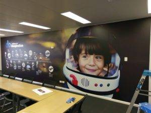 Digital print wallpaper at Subaru Canningvale