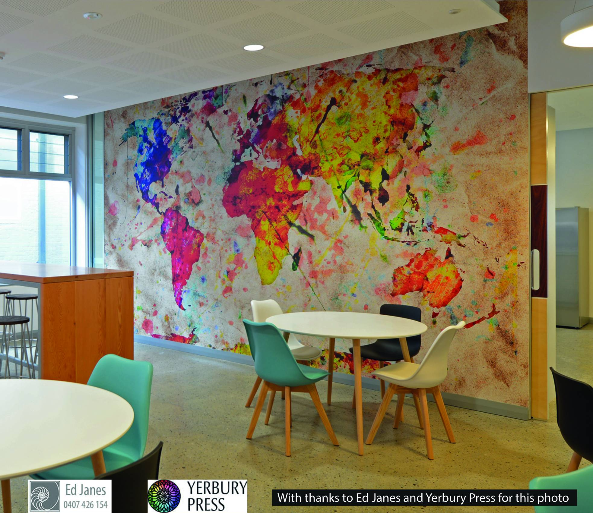 Perth custom wallpaper products complete film solutions digital print world map gumiabroncs Choice Image