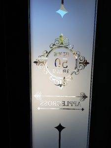decorative window film on front door