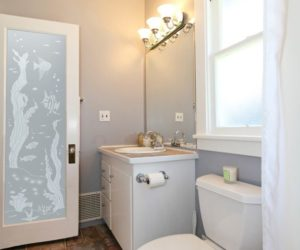Frosted Glass Design Bathroom Door