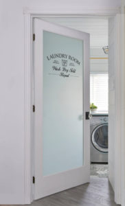 Frosted Glass Design Laundry Door