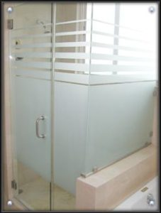 Frosted Shower Glass Design