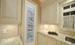 Frosted Pantry Door Design