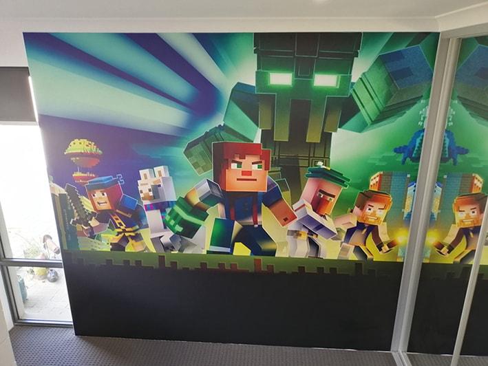 childrens bedroom wallpaper minecraft ideas-min
