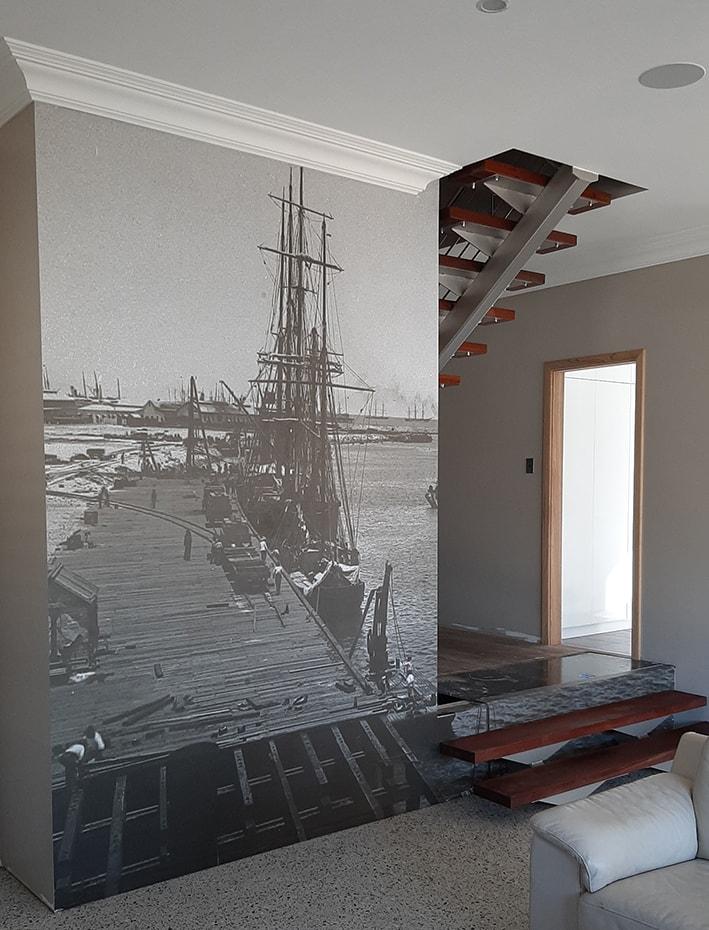 digital print of photo wallpaper idea for living room-min