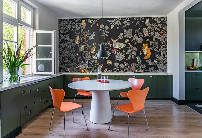 modern wallpaper for kitchen